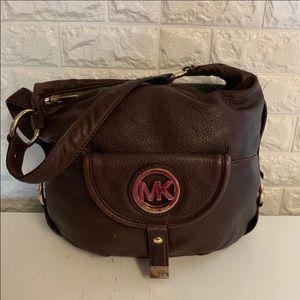 MK Fulton brown leather shoulder bag